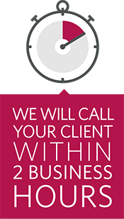 We will call you within 2 business hours